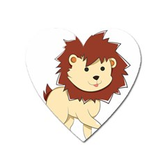 Happy Cartoon Baby Lion Heart Magnet by Catifornia