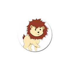 Happy Cartoon Baby Lion Golf Ball Marker (4 Pack) by Catifornia