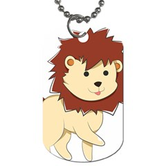 Happy Cartoon Baby Lion Dog Tag (two Sides) by Catifornia