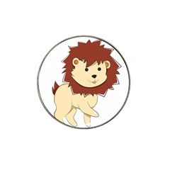 Happy Cartoon Baby Lion Hat Clip Ball Marker (4 Pack) by Catifornia