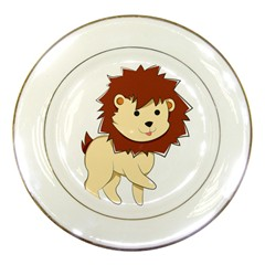 Happy Cartoon Baby Lion Porcelain Plates by Catifornia