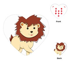 Happy Cartoon Baby Lion Playing Cards (heart)  by Catifornia