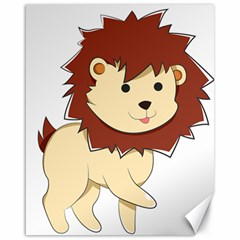 Happy Cartoon Baby Lion Canvas 16  X 20   by Catifornia