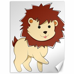 Happy Cartoon Baby Lion Canvas 36  X 48   by Catifornia