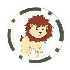 Happy Cartoon Baby Lion Poker Chip Card Guard by Catifornia