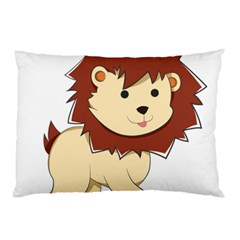 Happy Cartoon Baby Lion Pillow Case by Catifornia