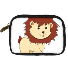 Happy Cartoon Baby Lion Digital Camera Cases by Catifornia