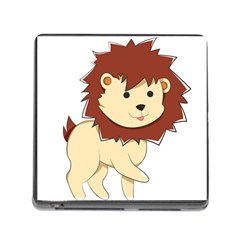Happy Cartoon Baby Lion Memory Card Reader (square) by Catifornia