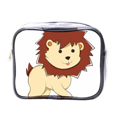 Happy Cartoon Baby Lion Mini Toiletries Bags by Catifornia