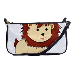 Happy Cartoon Baby Lion Shoulder Clutch Bags by Catifornia