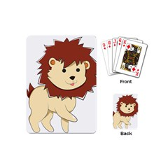 Happy Cartoon Baby Lion Playing Cards (mini)  by Catifornia