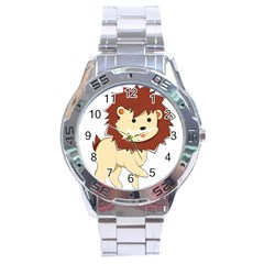 Happy Cartoon Baby Lion Stainless Steel Analogue Watch by Catifornia