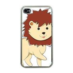 Happy Cartoon Baby Lion Apple Iphone 4 Case (clear) by Catifornia