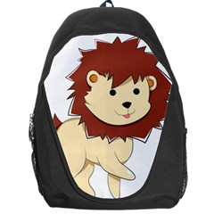 Happy Cartoon Baby Lion Backpack Bag by Catifornia