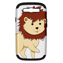 Happy Cartoon Baby Lion Samsung Galaxy S Iii Hardshell Case (pc+silicone) by Catifornia