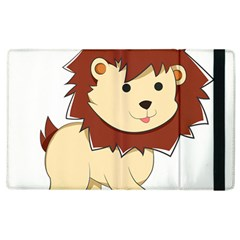 Happy Cartoon Baby Lion Apple Ipad 2 Flip Case by Catifornia