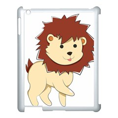 Happy Cartoon Baby Lion Apple Ipad 3/4 Case (white) by Catifornia