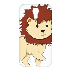 Happy Cartoon Baby Lion Samsung Galaxy S4 I9500/i9505 Hardshell Case by Catifornia