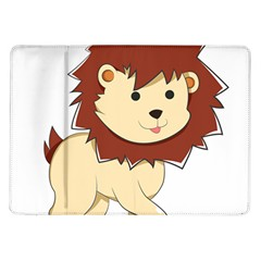 Happy Cartoon Baby Lion Samsung Galaxy Tab 10 1  P7500 Flip Case by Catifornia