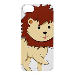 Happy Cartoon Baby Lion Apple Iphone 5s/ Se Hardshell Case by Catifornia