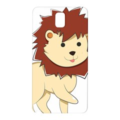 Happy Cartoon Baby Lion Samsung Galaxy Note 3 N9005 Hardshell Back Case by Catifornia