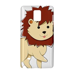 Happy Cartoon Baby Lion Samsung Galaxy Note 4 Hardshell Case by Catifornia