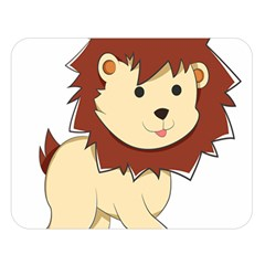 Happy Cartoon Baby Lion Double Sided Flano Blanket (large)  by Catifornia