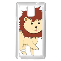 Happy Cartoon Baby Lion Samsung Galaxy Note 4 Case (white) by Catifornia