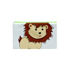 Happy Cartoon Baby Lion Cosmetic Bag (xs) by Catifornia