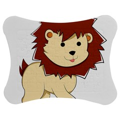 Happy Cartoon Baby Lion Jigsaw Puzzle Photo Stand (bow) by Catifornia