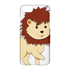 Happy Cartoon Baby Lion Apple Iphone 7 Hardshell Case by Catifornia