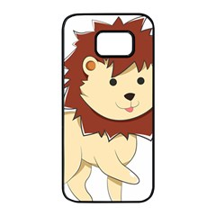 Happy Cartoon Baby Lion Samsung Galaxy S7 Edge Black Seamless Case