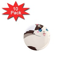 Ragdoll Cat For Life 1  Mini Magnet (10 Pack)  by Catifornia