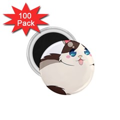 Ragdoll Cat For Life 1 75  Magnets (100 Pack)  by Catifornia