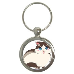 Ragdoll Cat For Life Key Chains (round)  by Catifornia