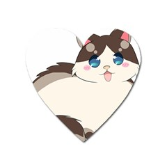 Ragdoll Cat For Life Heart Magnet by Catifornia