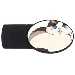Ragdoll Cat For Life Usb Flash Drive Oval (2 Gb) by Catifornia