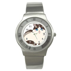 Ragdoll Cat For Life Stainless Steel Watch