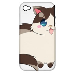 Ragdoll Cat For Life Apple Iphone 4/4s Hardshell Case (pc+silicone) by Catifornia