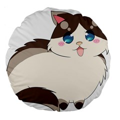 Ragdoll Cat For Life Large 18  Premium Flano Round Cushions