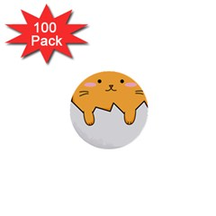 Yellow Cat Egg 1  Mini Buttons (100 Pack)