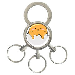 Yellow Cat Egg 3 Ring Key Chains by Catifornia