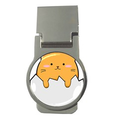 Yellow Cat Egg Money Clips (round)  by Catifornia