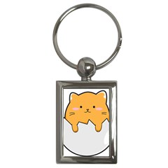 Yellow Cat Egg Key Chains (rectangle)
