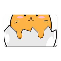 Yellow Cat Egg Magnet (rectangular) by Catifornia