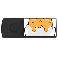 Yellow Cat Egg Usb Flash Drive Rectangular (4 Gb)