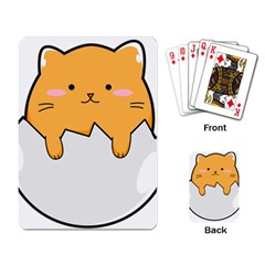 Yellow Cat Egg Playing Card by Catifornia