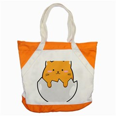 Yellow Cat Egg Accent Tote Bag by Catifornia