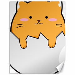 Yellow Cat Egg Canvas 18  X 24   by Catifornia
