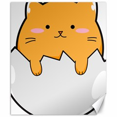 Yellow Cat Egg Canvas 20  X 24   by Catifornia